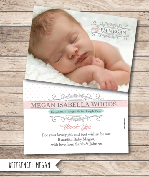 Cityprint Print Design Wedding Invitations Memoriam Cards - Baby