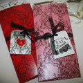 DL Invitation Set - with 2 insert cards plus free ribbon and tag
